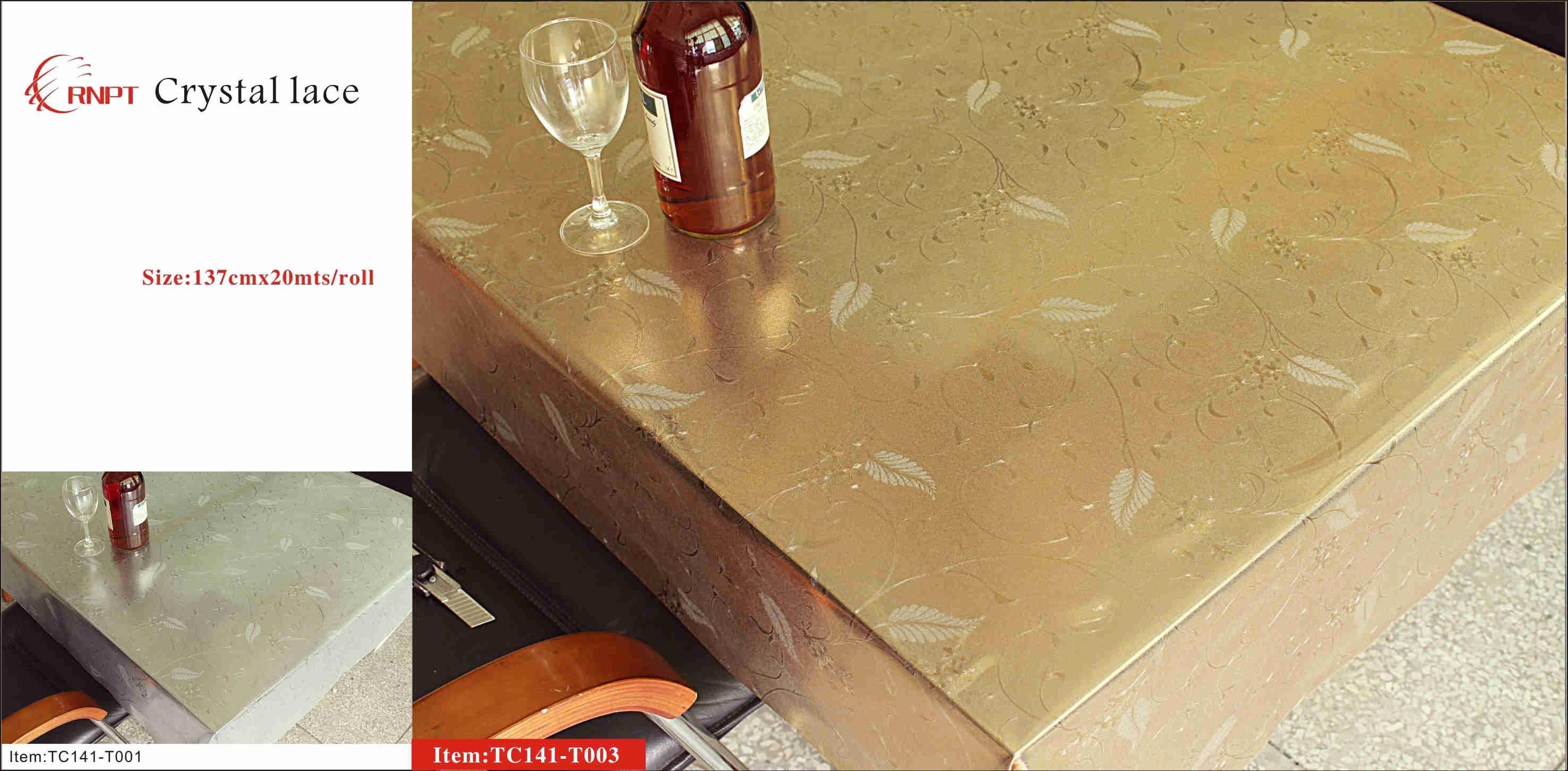 crystal table cloth