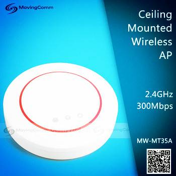 802.11n 2.4GHz 300Mbps Wireless Ceiling AP made by MTK MT7620A for hotels