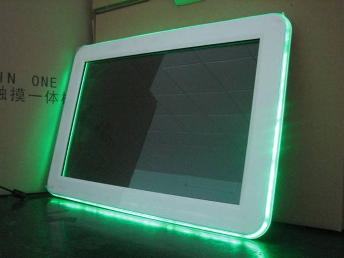 touch screen with LED lights