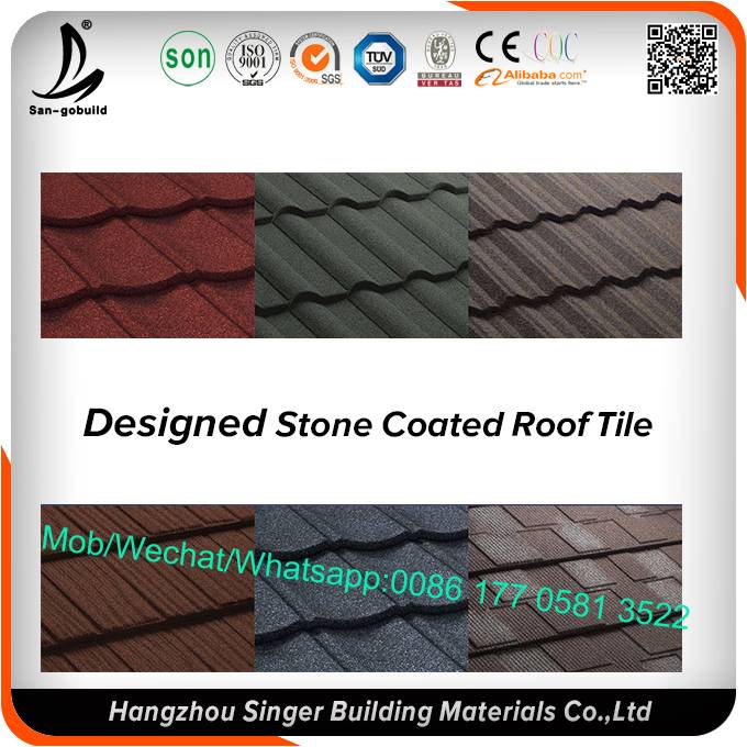 Africa house design stone coated metal roofing tiles for sale