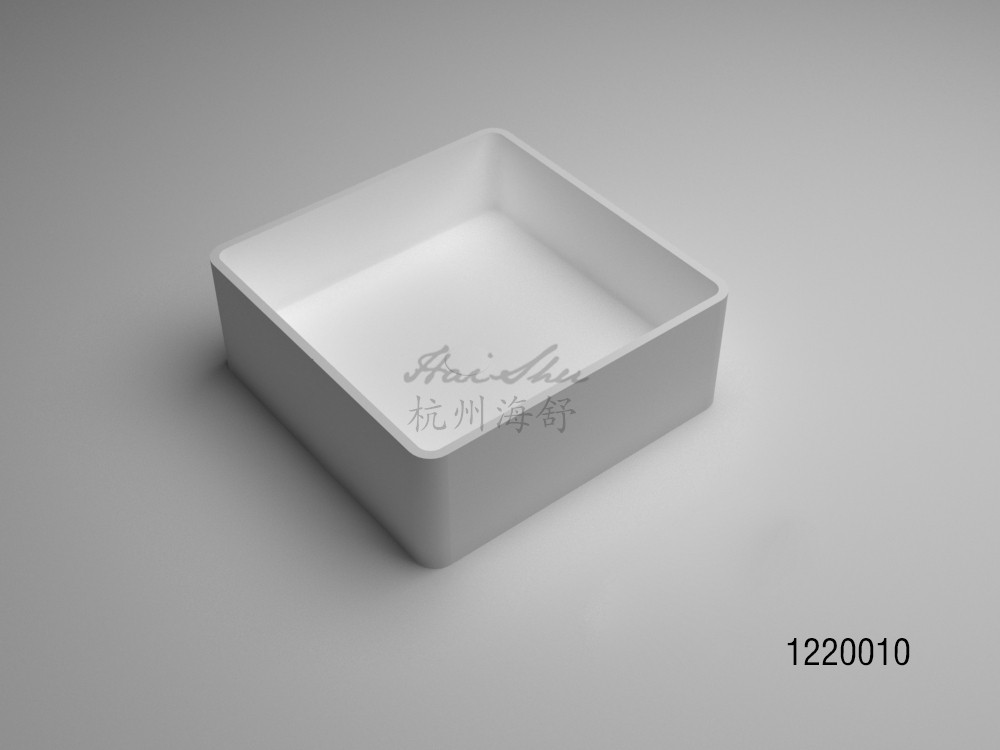 White matte acrylic resin washing basin/artificial stone bowl