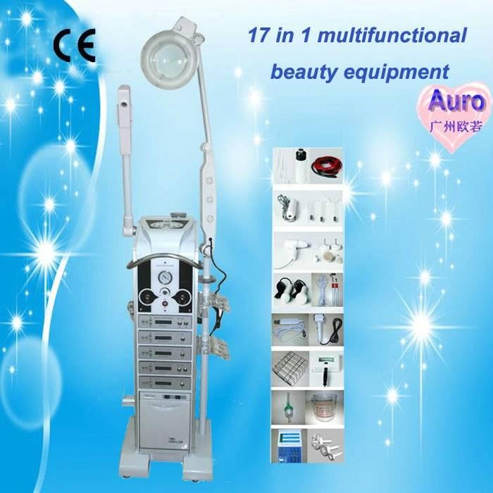 17 in 1 Multi-Functional skin analyzer magnifying Lamp ultrasound machine AU-9988