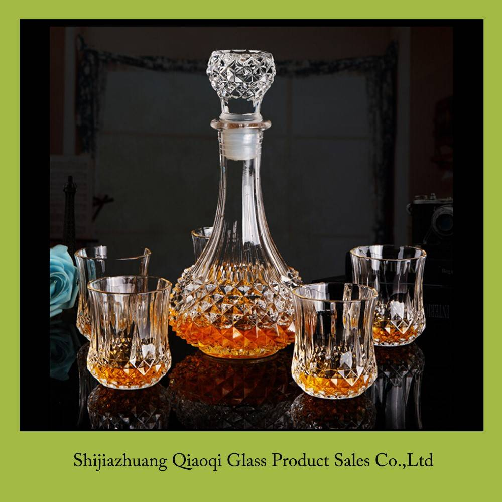 Glassware Manufacturer glass whiskey decanter set