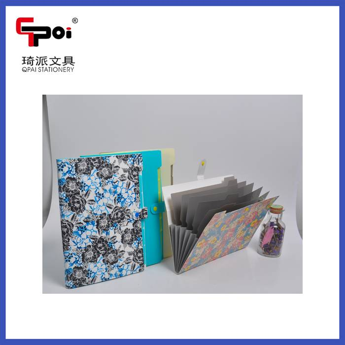 Office Stationery PP A4 6 Pockets Expanding Wallet File Folder