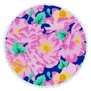 RS26 Tie-dye flower round towels