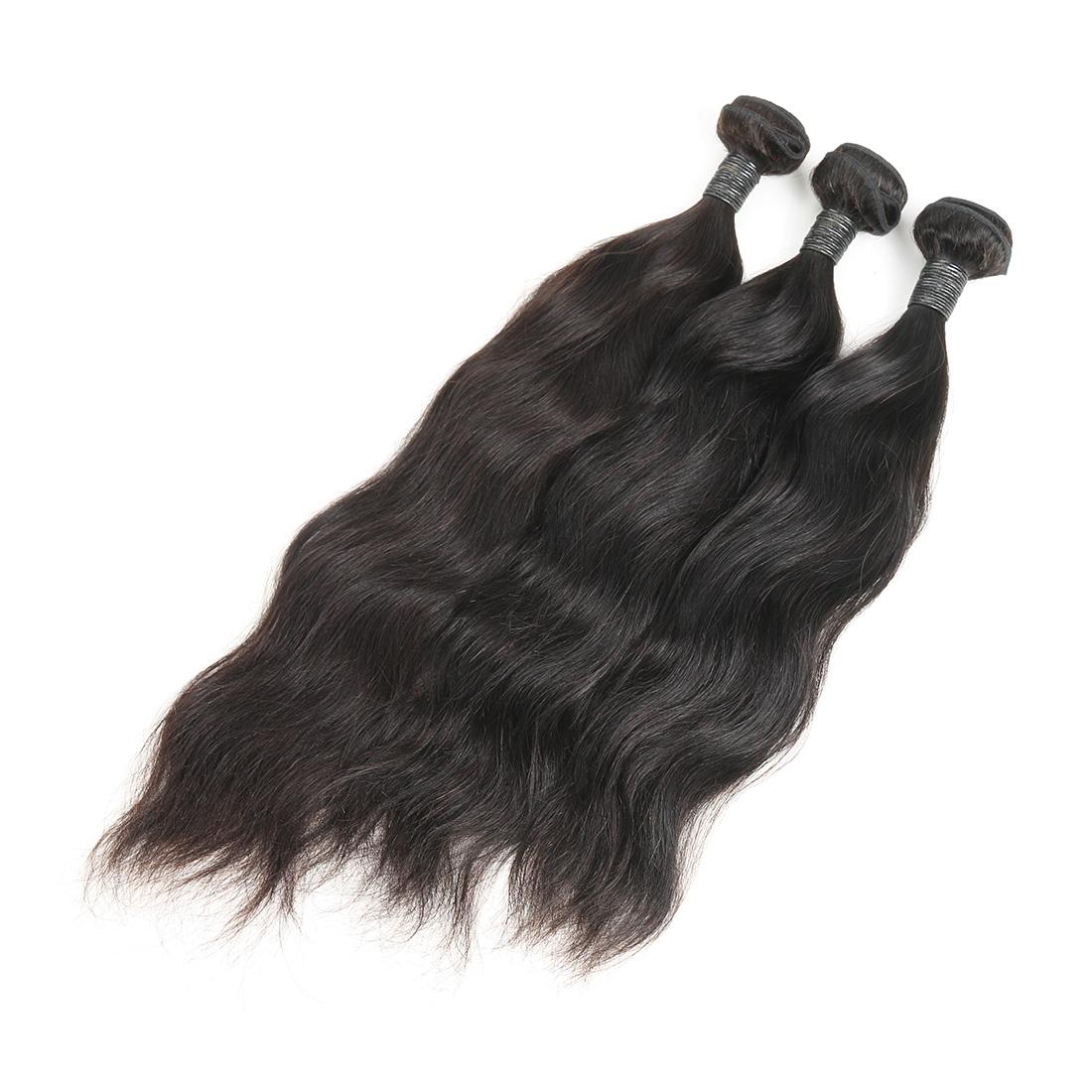 9A Brazilian Natural Wave Human Virgin Hair Weave 3 Bundles With Lace Closure