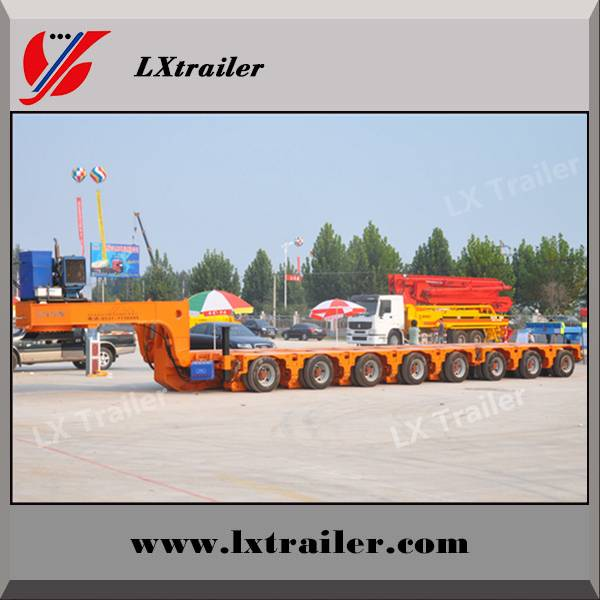 6 lines 12 axles 150ton hydraulic modular low bed semi trailer