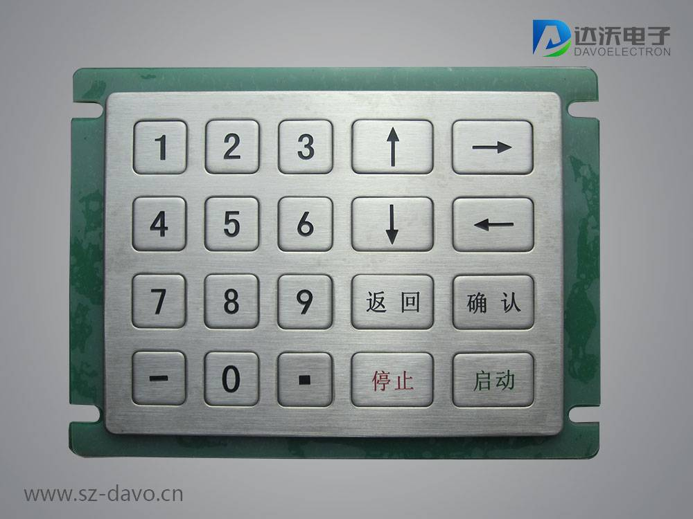 Metal Numeric Keypad with 20 Flush Keys
