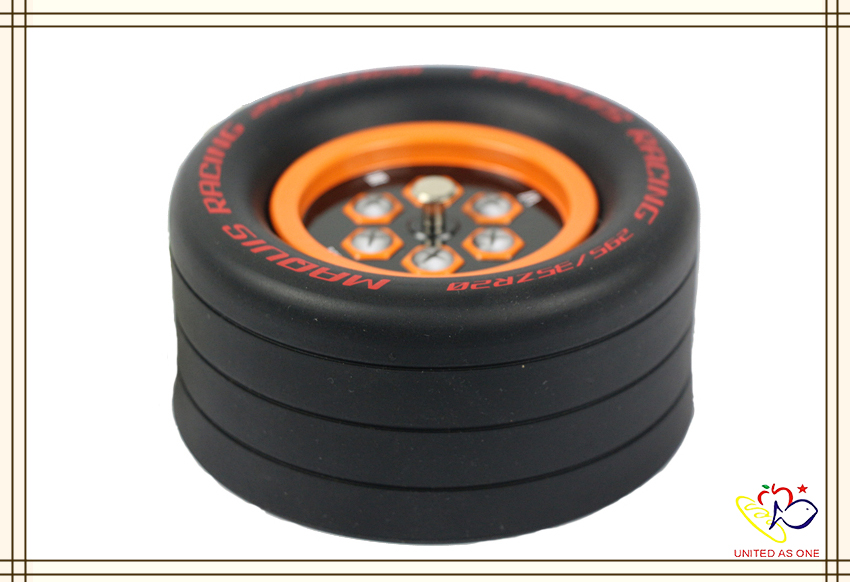 Custom wheel shaped candy packaging tin box wholesale
