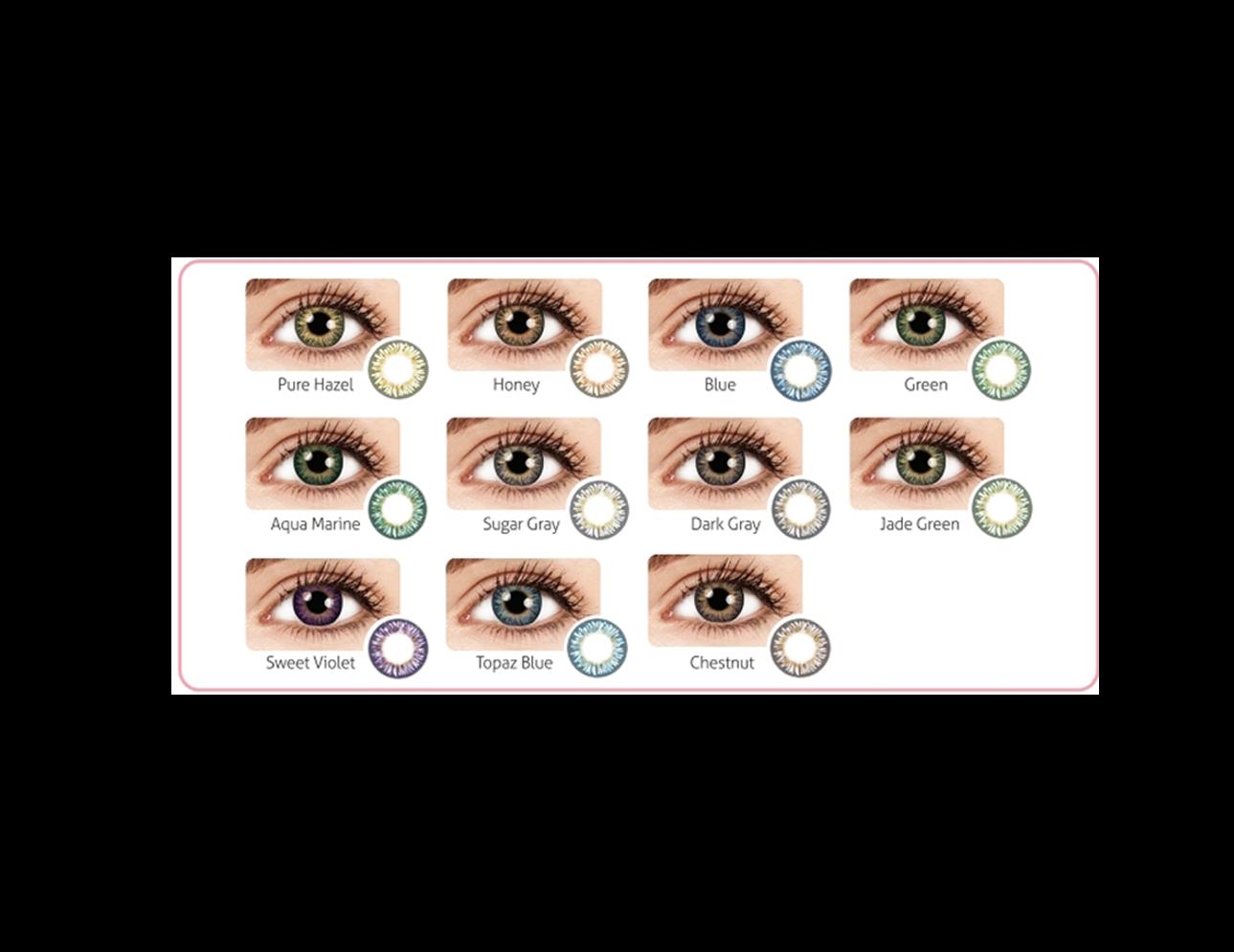 OEM Korean 85 Colors Contact Lenses FDA CE ISO 13485
