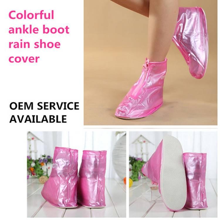Anti-slip PVC Portable Over Shoes Rain Boot Cover