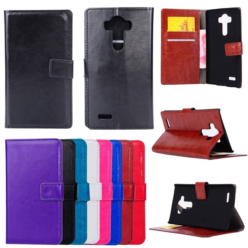 Wallet Stand PU Leather Case Flip Cover for LG G4 G3 G2 Mini Optimus G Pro2 G3C26