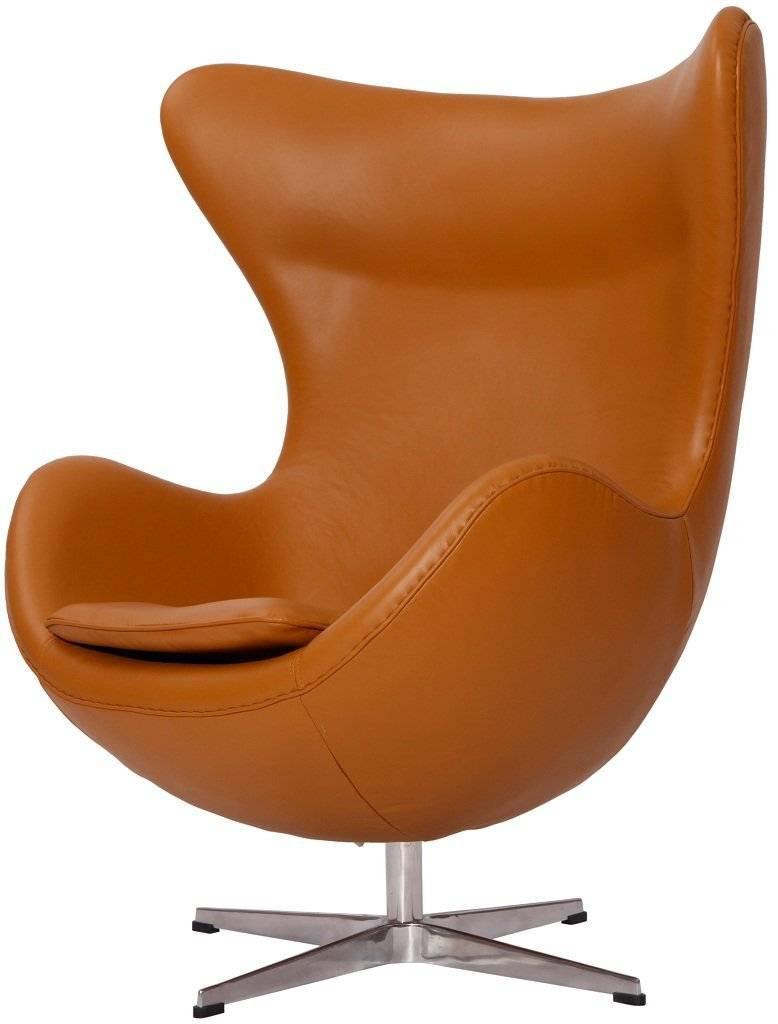 MLF® Arne Jacobsen Egg Chair in Top Light Brown Italian Leather