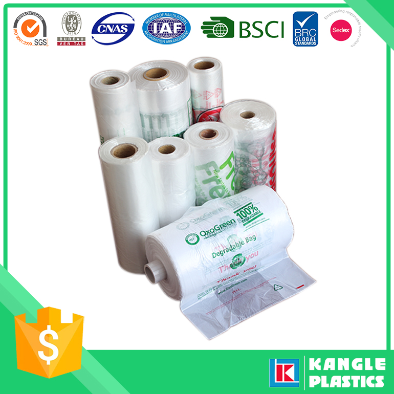hdpe freezer bag produce bag on roll