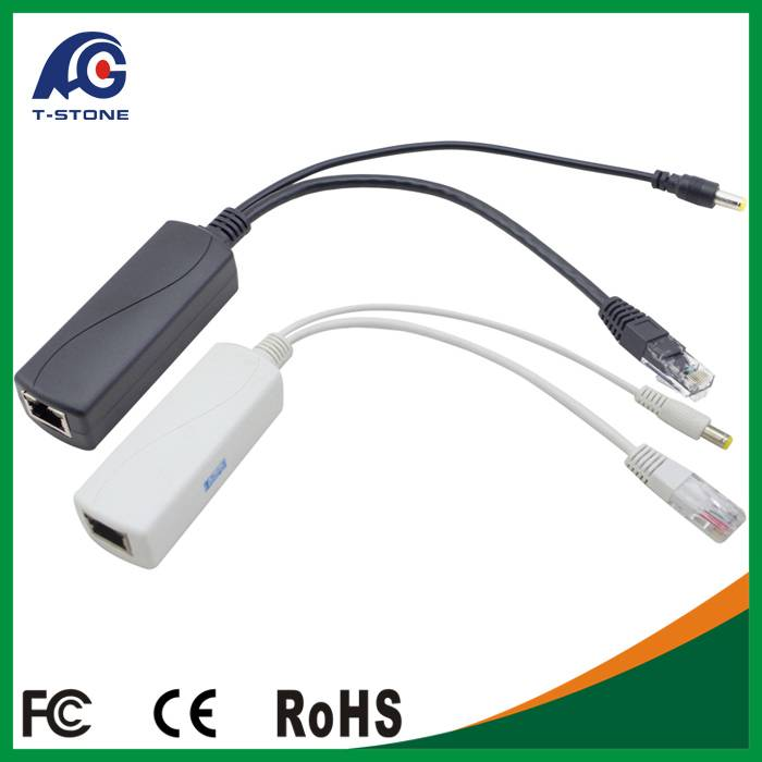 10/100Mbps Mini Size PoE Splitter for IP Camera 12V 2A IEEE802.3at/at