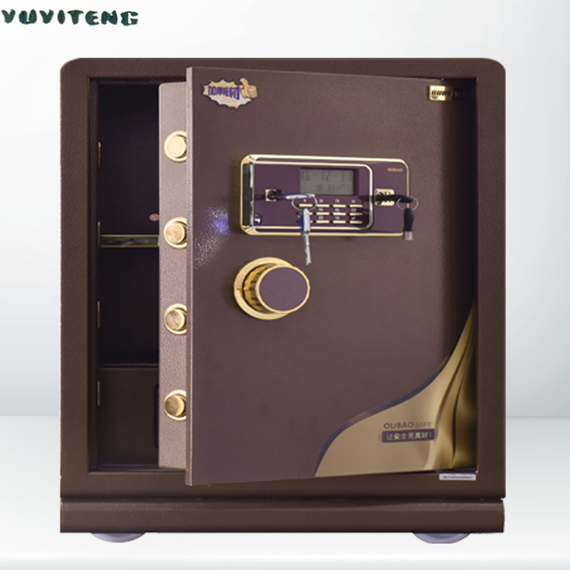 Key And Electronic Combination Lock Safe Box Steel Guns Safes