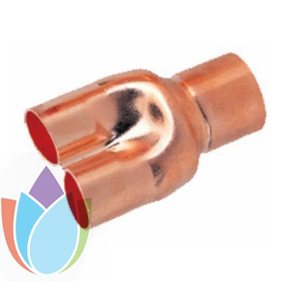 Air conditioner Y tee copper fitting
