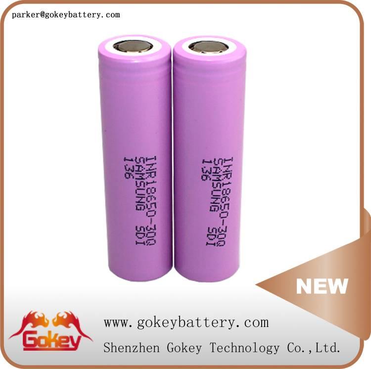 Samsung 30Q 3000mah 15A 3.7V LI-ION 18650 deep cycle battery