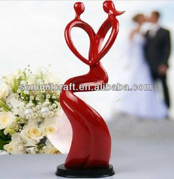 polyresin red abstract couple wedding giveaway gift