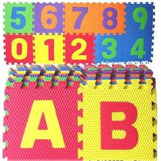 Educational EVA alphabet puzzle mat