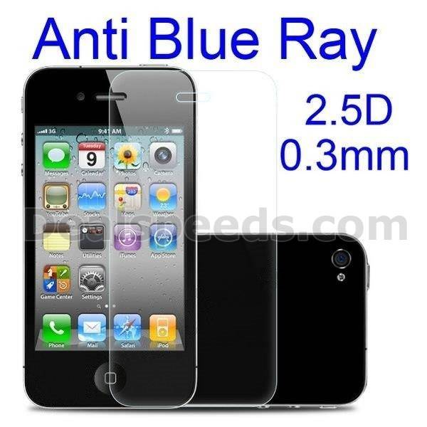 Benks 0.3mm 2.5D Arc Edge Anti Blue Ray Tempered Glass Screen Protector Film for iPhone 4S 4