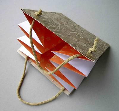 Folding jewelry paper bags ZD-1344