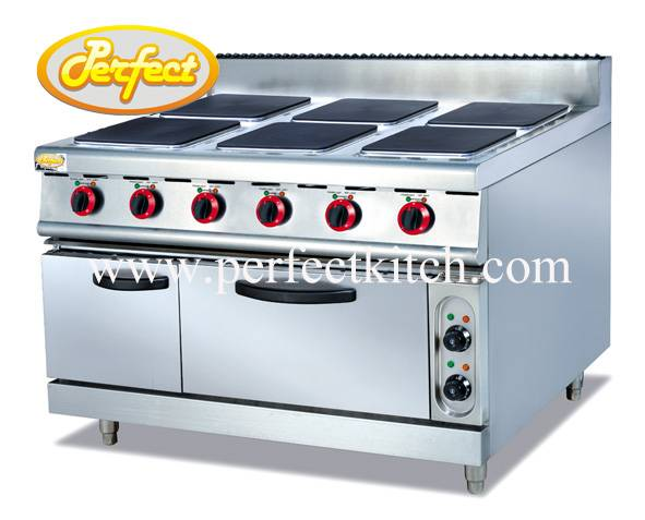 Electric 6-Hot Plate with Electric Oven