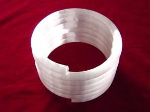 Opaque quartz coil for heater