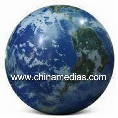 Blue Inflatable Earth Balloons Globe with 540*1080 dpi high resolution digital printing