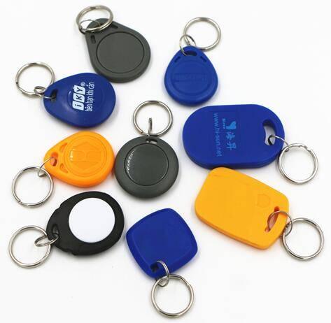 Passive LF HF NFC ABS RFID Key Fob Tag