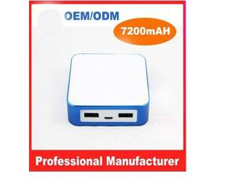 PB7200  Dual USB Hot sale 7200mAH universal portable power bank for ipad