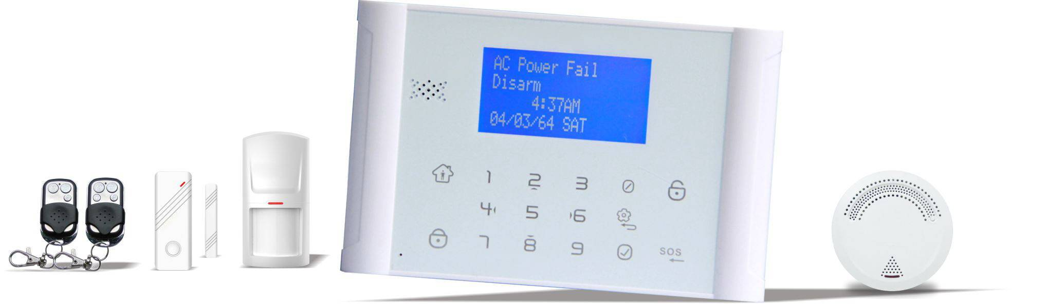 GSM + PSTN alarm system with LCD Screen