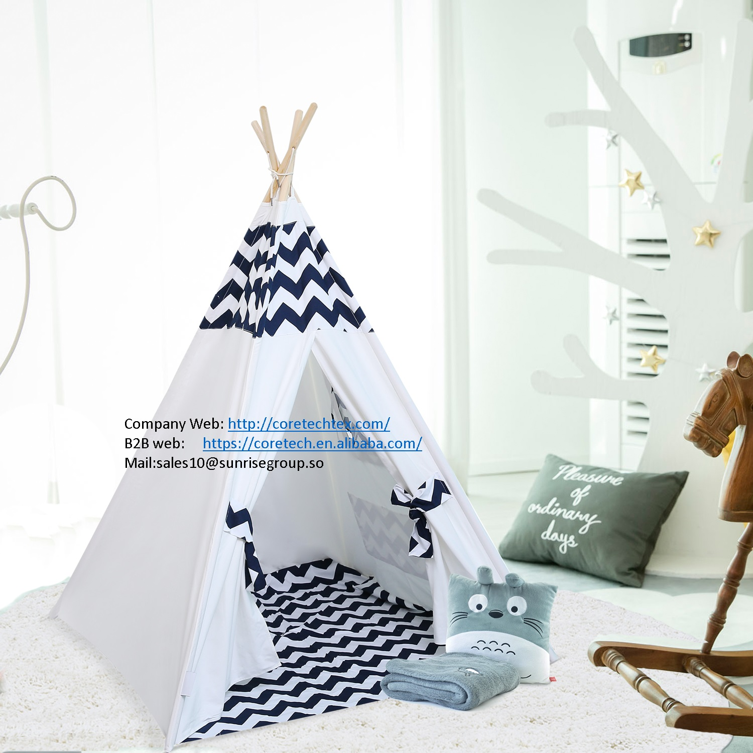 lovely kids teepee tent