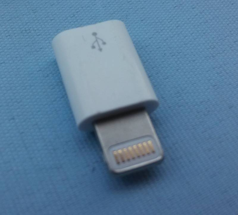 Micro usb dc connector to iphone 5 plug