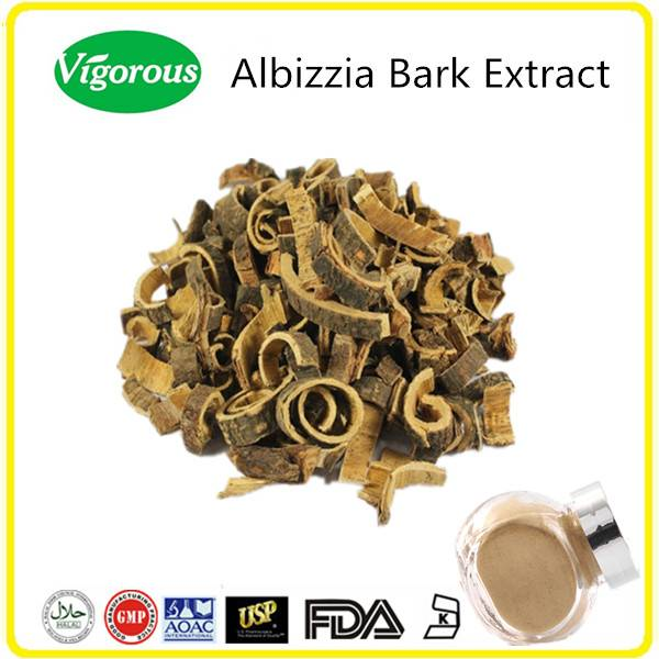 GMP manufacturer free samples pure natural albizzia bark extract