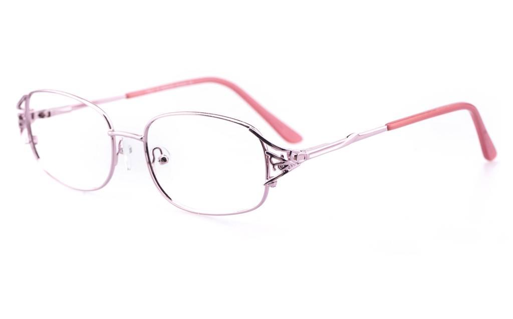 Pink 1110 Full Rim Oval Metal-Stainless Steel Glasses