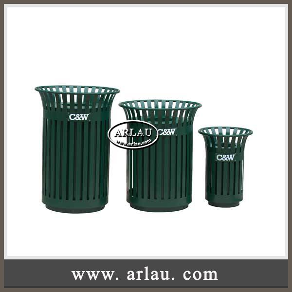 Arlau Outdoor Garden Furniture,Recycle Garbage Can,Galvanized Steel Recycling Waste Bins