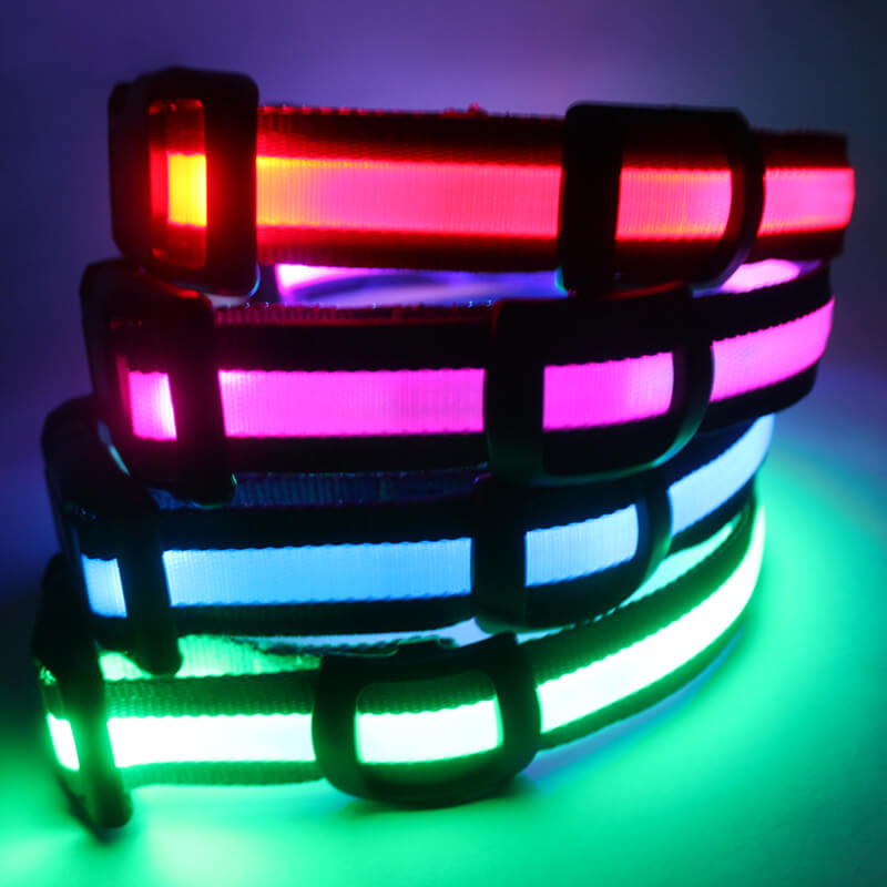 Led dog collar for sale glow at dark-qqpets
