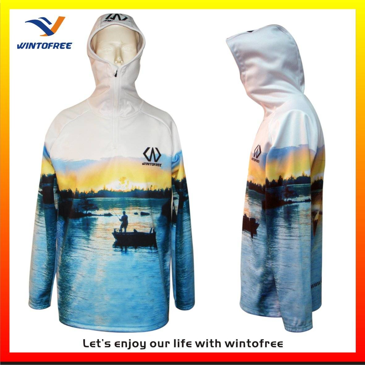 custom 100%polyester with full printing fishing jersey,fishing wear