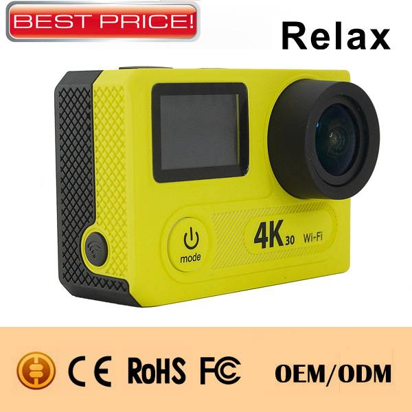 Best sale! 4K display wifi H.264,30M waterproof Sports camera with remote control