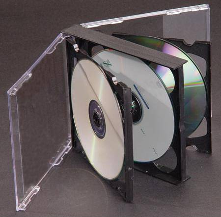 CD jewel case for 3~6 discs