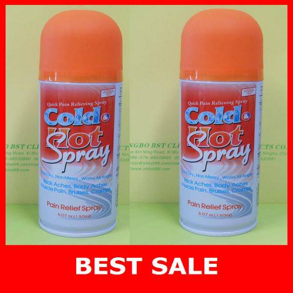 Hot and cold spray,muscle pain relief spray for sport and accident