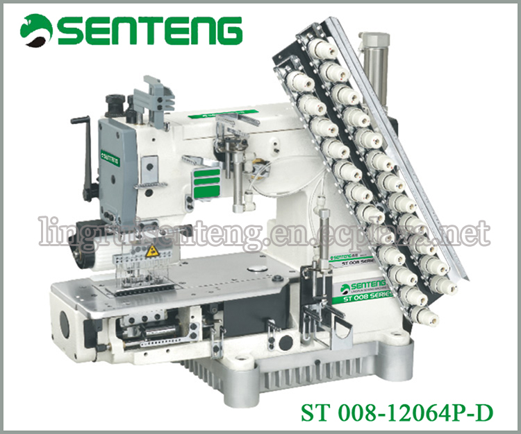 ST 008-12064P/PQ 12N middle elastic shirring industrial sewing machine price