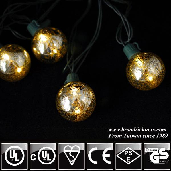 UL G40 mercury LED string light