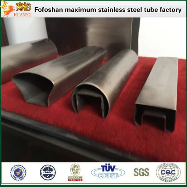 TP304 special type stainless steel double slot pipes from foshan KUANYU