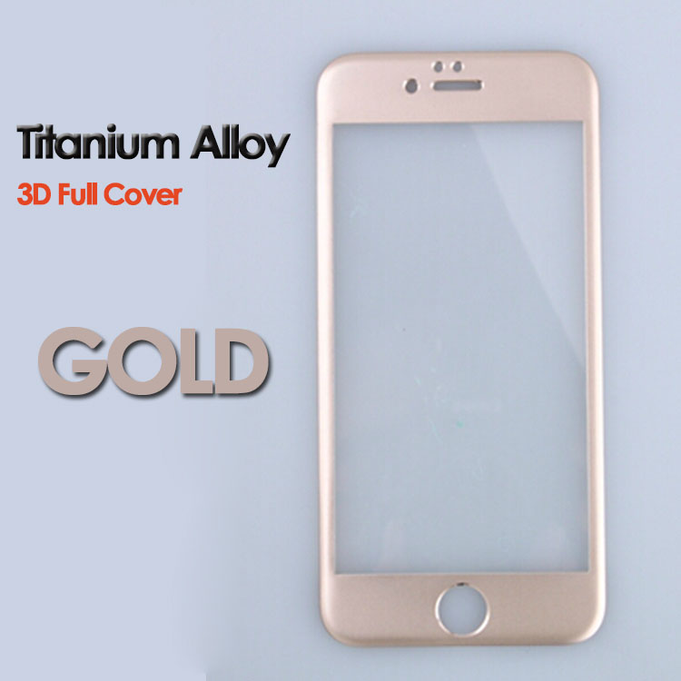0.33mm Titanium Alloy Frame 3D Curved Full Cover Tempered Glass Screen Protector For Iphone 6 6s 7