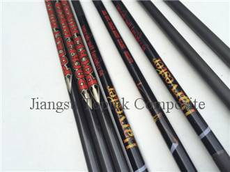 hunting carbon fiber arrow, carbon archery arrow, 0.004 straightness carbon arrow