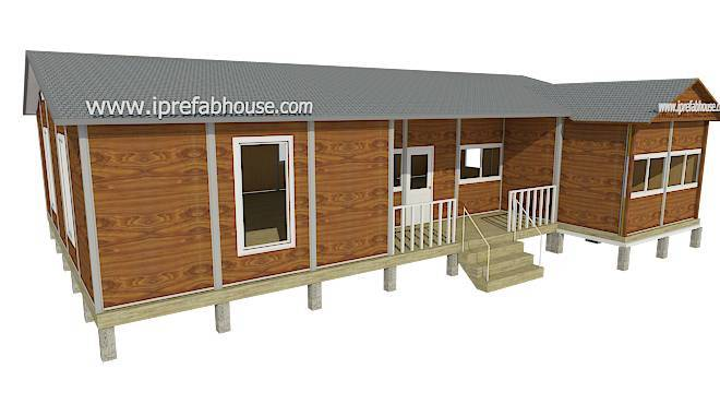 big single layer environmental precast steel homes,132.50 sq.m.