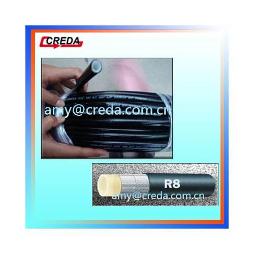 SAE100 R8 Tensile Fiber Braid Hydraulic Hose