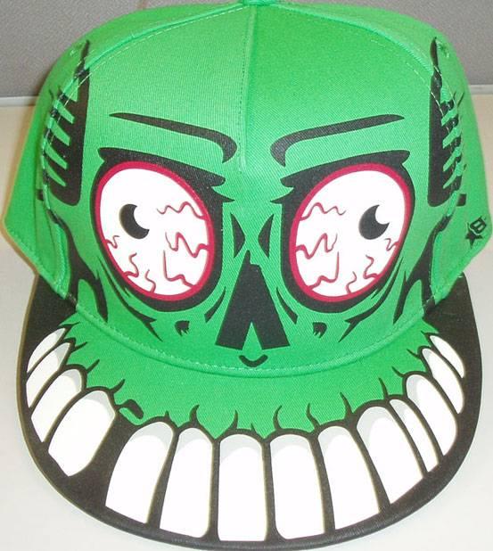 16*12 chino cotton twill flat visor cap with printing, baseball cap